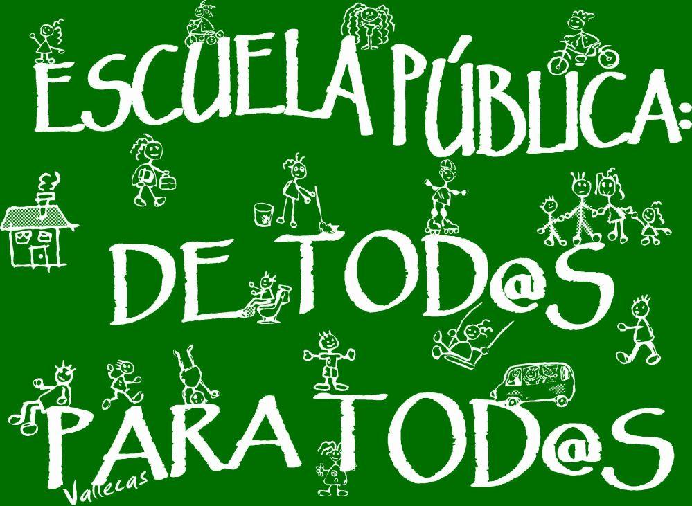 Una escuela más pública y más de tod@s : la #mareaverde editará libros de texto