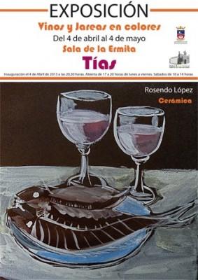 """Cartel de la exposición """"Vinos y Jareas en colores"""""""